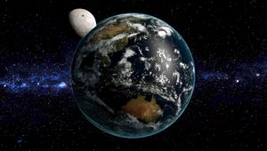 Preview wallpaper earth, planet, space, stars