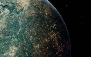 Preview wallpaper earth, planet, space, stars, lights
