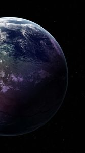 Preview wallpaper earth, planet, stars, starry sky, space