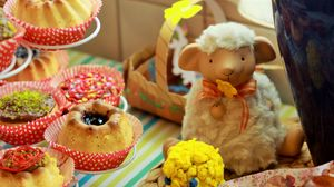 Preview wallpaper easter, cake, holiday, lamb, baked