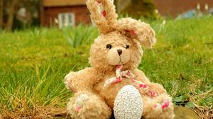 Preview wallpaper easter, egg, bunny, toy