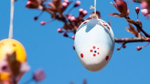 Preview wallpaper easter, egg, spring, holiday, decoration, branches