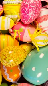 Preview wallpaper easter eggs, easter, painted eggs, holiday