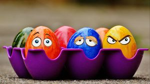 Preview wallpaper easter, eggs, eyes, emotions