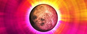 Preview wallpaper eclipse, colorful, glow