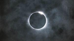 Preview wallpaper eclipse, full moon, moon, sun, sky