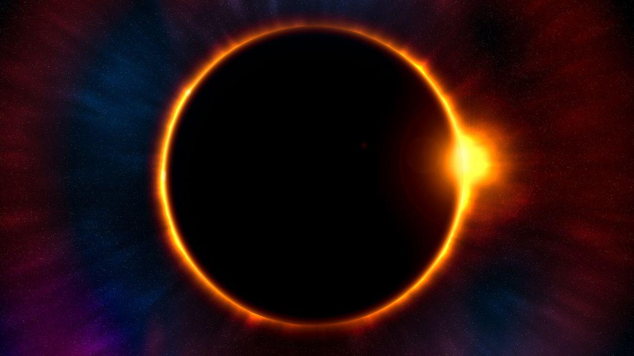 Wallpaper eclipse, moon, sun, astronomy, stars