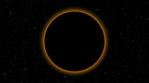 Preview wallpaper eclipse, moon, sun, space, dark, full moon