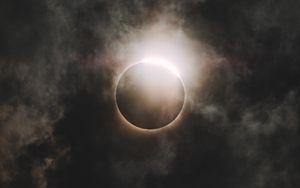 Preview wallpaper eclipse, moon, sun, sky