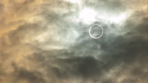 Preview wallpaper eclipse, sun, clouds, sky