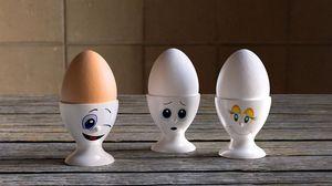 Preview wallpaper egg, smile, 3d