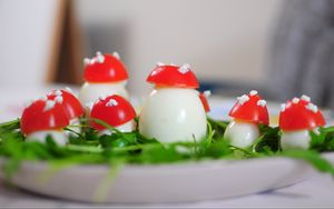 Preview wallpaper eggs, tomatoes, decoration, snack