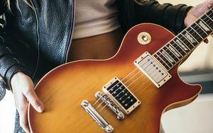 Preview wallpaper electric guitar, guitar, musical instrument, girl, music