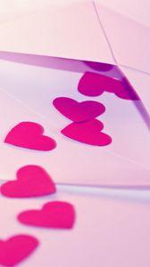 Preview wallpaper envelope, heart, paper