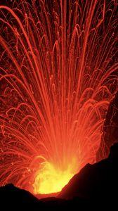 Preview wallpaper eruption, sparks, dark