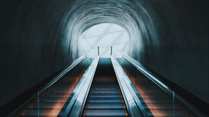 Preview wallpaper escalator, ladder, dark