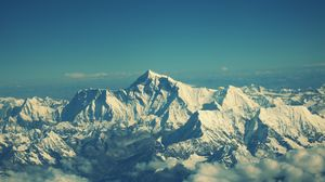 Preview wallpaper everest, mountain, sky, tops