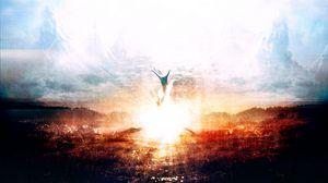 Preview wallpaper explosion, hand, death, heaven, paint