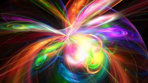 Preview wallpaper explosion, rainbow, colorful, color