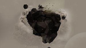 Preview wallpaper explosion, shape, dark