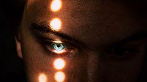 Preview wallpaper eye, light, ray, eyebrows