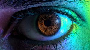Preview wallpaper eye, pupil, eyelashes, macro, multicolored