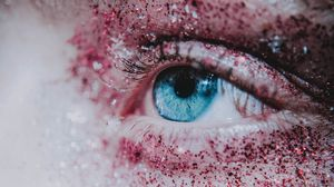 Preview wallpaper eyes, eyelashes, sequins, pupil