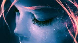 Preview wallpaper eyes, eyelashes, sleep, dreams, art