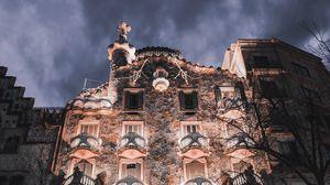 Preview wallpaper facade, building, architecture, casa batllo, barcelona, spain