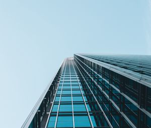 Preview wallpaper facade, building, architecture, bottom view, minimalism, sky