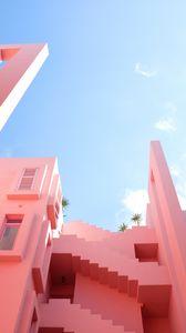 Preview wallpaper facade, pastel, summer, sky, gentle