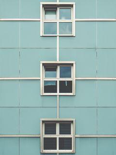 240x320 Wallpaper facade, windows, building