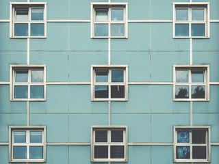 320x240 Wallpaper facade, windows, building