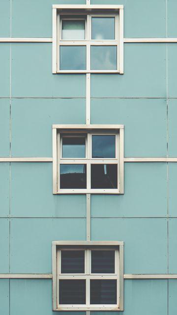 360x640 Wallpaper facade, windows, building