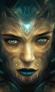 Preview wallpaper face, girl, surreal, fantastic