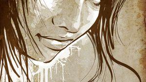 Preview wallpaper face, hair, girl, lips