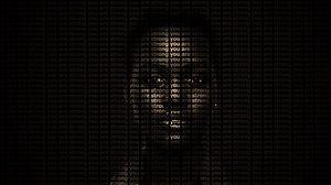 Preview wallpaper face, inscription, strong, motivation, text, dark