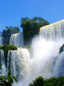 Preview wallpaper falls, break, force, vegetation, cascades