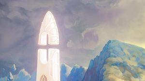 Preview wallpaper fantasy, tower, rocks, stones, art