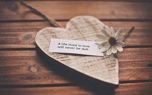Preview wallpaper feelings, love, romance, life, recognition, speech, daisy, heart