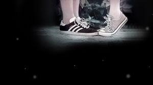 Preview wallpaper feet, sneakers, date