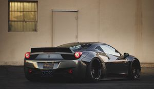 Preview wallpaper ferrari, 458, rear view, bumper