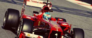 Preview wallpaper ferrari, alonso, f1, formula 1