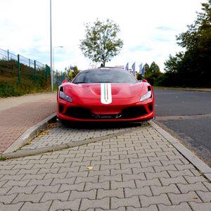 Preview wallpaper ferrari, car, red, front view