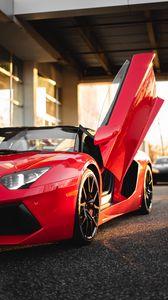 Preview wallpaper ferrari, car, sports car, supercar, red