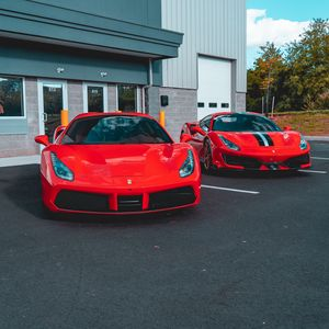 Preview wallpaper ferrari, cars, sports cars, red