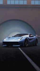 Preview wallpaper ferrari f12, ferrari, sports car, racing, front view, supercar