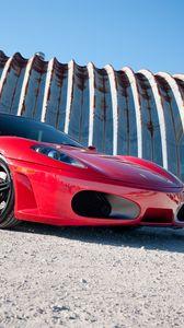 Preview wallpaper ferrari, f430, red, side view