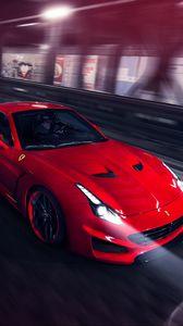 Preview wallpaper ferrari, pininfarina, novitec rosso, red, speed