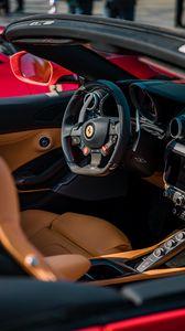 Preview wallpaper ferrari, salon, sports car, steering wheel